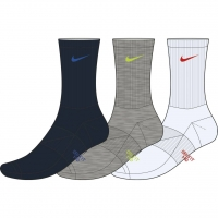 Kids' Performance Cushioned Crew Training Socks (3 Pair)