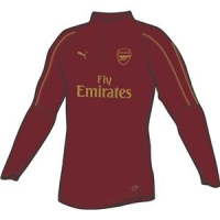 Arsenal FC 1/4 Zip TOP WITH zipped pockets with EPL sponsor
